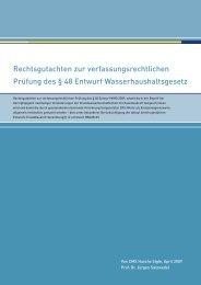 Rechtsgutachten - Bundesverband Baustoffe - Steine und Erden (BBS)