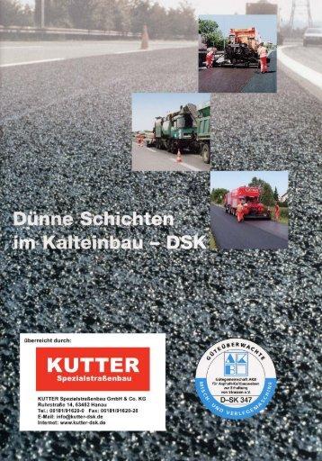 Dünne Schichten im Kalteinbau - DSK - KUTTER Spezialstraßenbau ...
