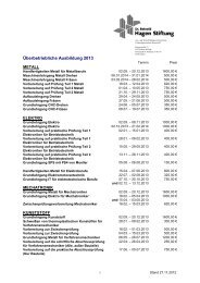 Überbetriebliche Ausbildung 2013 - Dr. Reinold Hagen Stiftung