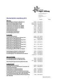 Lehrgaenge 2013 - Dr. Reinold Hagen Stiftung