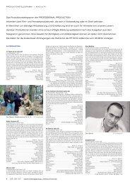 Produktionstelegramm aus PP 08-09/12 - Professional Production