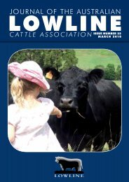 journal of the australian - Australian Lowline Cattle Association