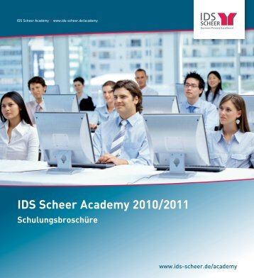 IDS Scheer Academy 2010/2011 - IDS Scheer AG
