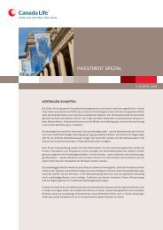 Investment Spezial - INSURANCE AND MORE