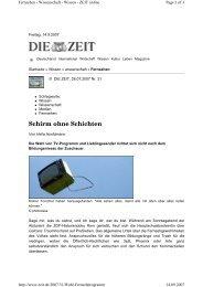 Schirm ohne Schichten - Universität zu Köln