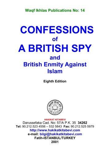 CONFESSIONS A BRITISH SPY - Hakikat Kitabevi