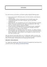 Einreisebestimmungen für Hunde und Katzen: (pdf) - Dog-Institut