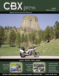 Dedicated To The Preservation Of The CBX Motorcycle