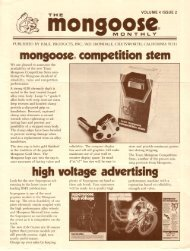 mongoose monthly vol 4 issue #2 - Vintage Mongoose
