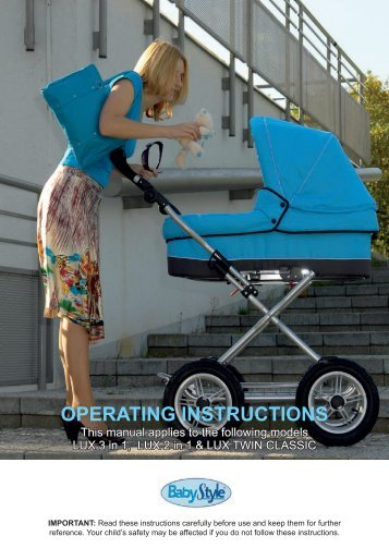 operating instructions - Babystyle