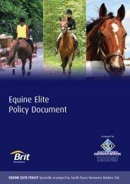 Equine Elite Brit Policy Wording 07/12 - SEIB