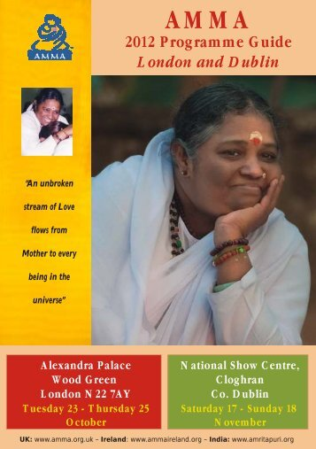 2012 Programme Guide London and Dublin - AMMA UK