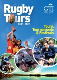 Tours, Tournaments &Festivals - Group Travel International