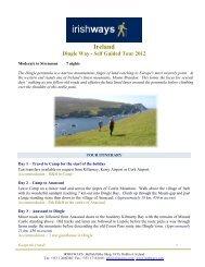 Ireland Dingle Way - Self Guided Tour 2012 - Irish Ways