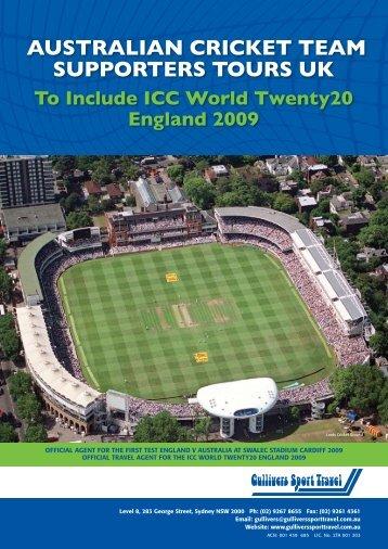 australian cricket team supporters tours uk - Gullivers Sport Travel