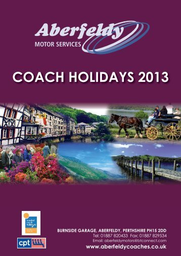 download your 2013 holiday brochure - Aberfeldy Motor Services