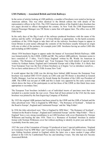 LMS Publicity – Associated British and Irish Railways - Railway Print ...