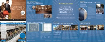 Bristol Shopping Quarter Store Guide Map PDF