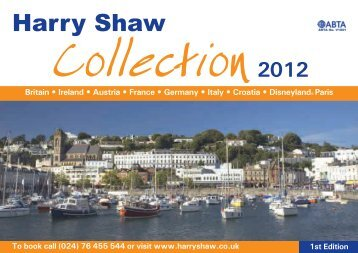To book call (024) - Harry Shaw Travel