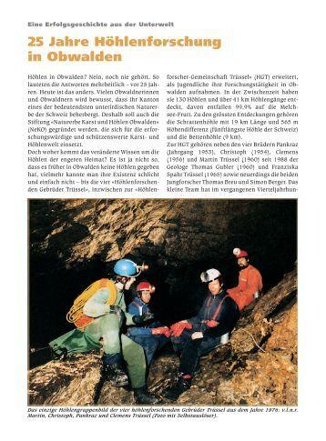 25 Jahre Höhlenforschung in Obwalden - Die Stiftung NeKO