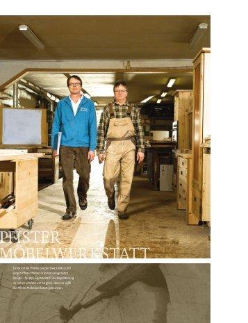 Am Anfang ist der Stamm - Pfister Möbelwerkstatt