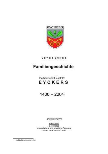 Familiengeschichte 1 - Genealogie Homepage von Gerhard Eyckers
