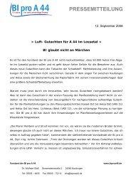 PRESSEMITTEILUNG - der Bürgerinitiative Pro A 44
