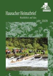 zum Heimatbrief Hausach 2009 - Forum Hausach eV