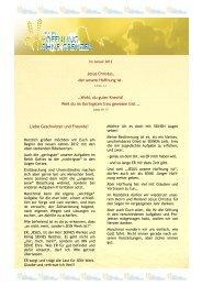 Stiftungsbrief 2011 - STIFTUNG - Hoffnung ohne Grenzen
