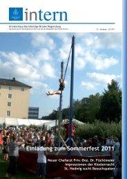 Ausgabe Juli 2011 - Krankenhaus Barmherzige Brüder