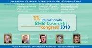 11. Internationaler BHB Baumarktkongress 2010 - Management Forum