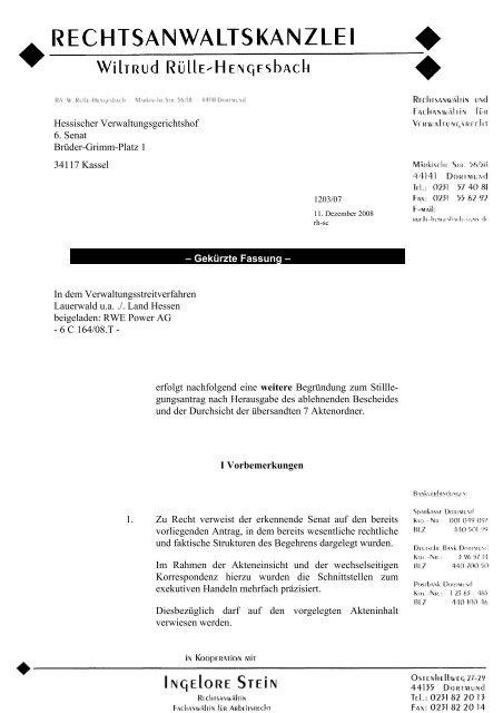 Hessischer Verwaltungsgerichtshof 6. Senat Brüder-Grimm ... - ippnw
