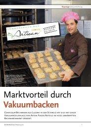 Marktvorteil durch Vakuumbacken - Aston Foods AG