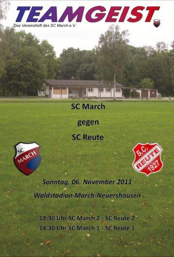 SC March gegen SC Reute