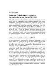 Revolutionskultur am Rhein 1789–1815 - Franz Steiner Verlag