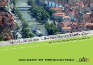 Einladung zu den 1. Service Design Thinks Graz - Innovation ...