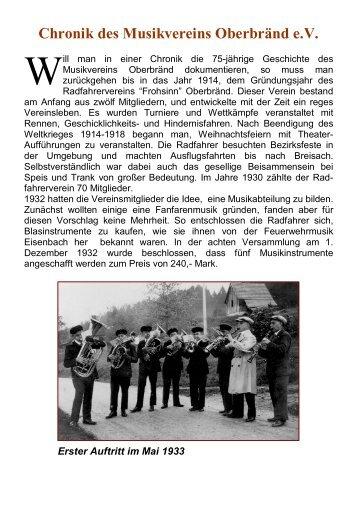 Chronik des Musikvereins Oberbränd e.V. - Musikverein Oberbränd ...