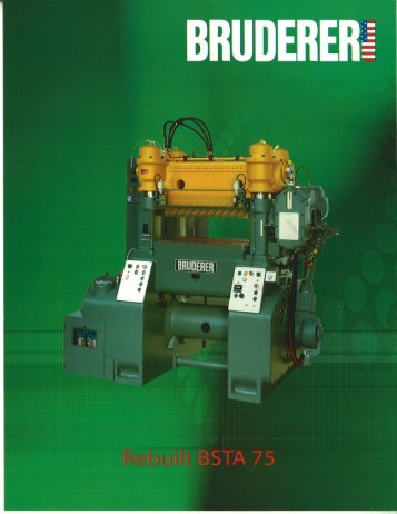 Download Product brochure BSTA 75HL: PDF - BRUDERER ...