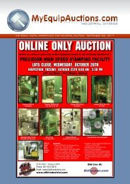 ONLINE ONLY AUCTION - MyEquipAuctions.com