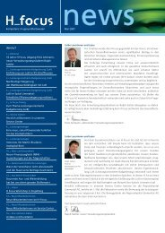 Dienstleistung ist unsere Kompetenz - H Focus AG