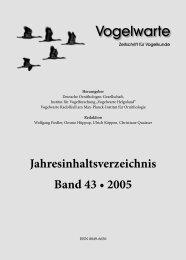 Jahresinhaltsverzeichnis Band 43 • 2005 - DO-G