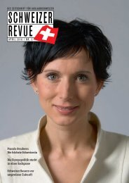 Pascale Bruderer: Die höchste Schweizerin Die ... - Schweizer Revue