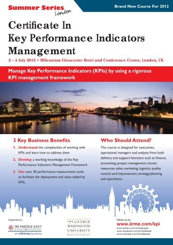 Certificate In Key Performance Indicators ... - IIR Middle East