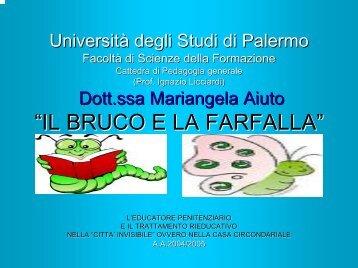 """Mariangela Aiuto """"IL BRUCO E LA FARFALLA"""" L ... - descrittiva"""