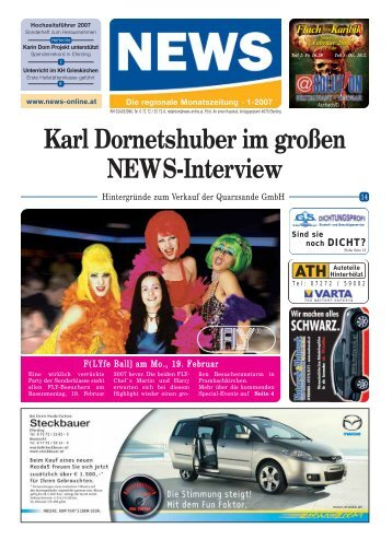 Karl Dornetshuber im großen NEWS-Interview - NEWS-ONLINE.at