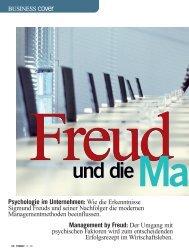 Freud und die Manager - Dr. Regina Maria Jankowitsch