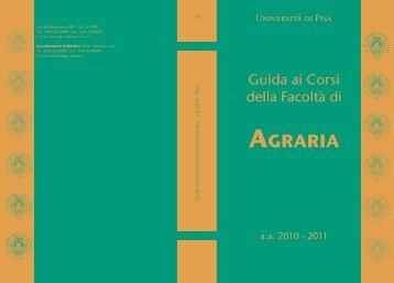 AgrAriA - Facoltà di Agraria - Università degli Studi di Pisa
