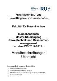 Modulhandbuch Master - UTRM - Ruhr-Universität Bochum