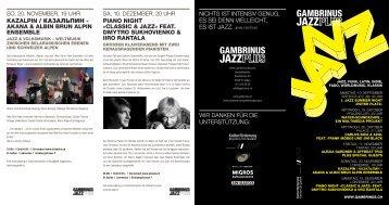Programmflyer Herbst 2011 (pdf) - Gambrinus Jazz Plus