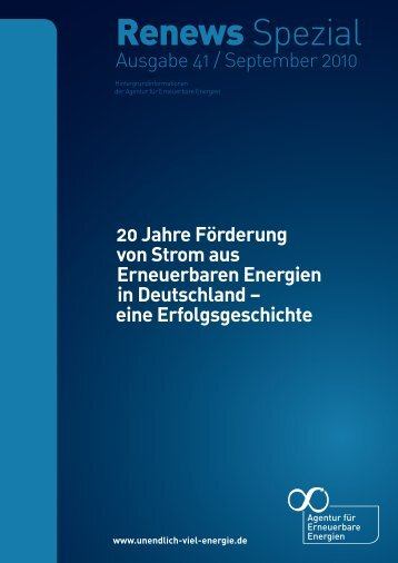 Renews Spezial 41 - Agentur für Erneuerbare Energien